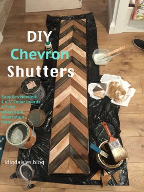 Outdoor Challenge Part 1: $60 DIY Chevron Shutters