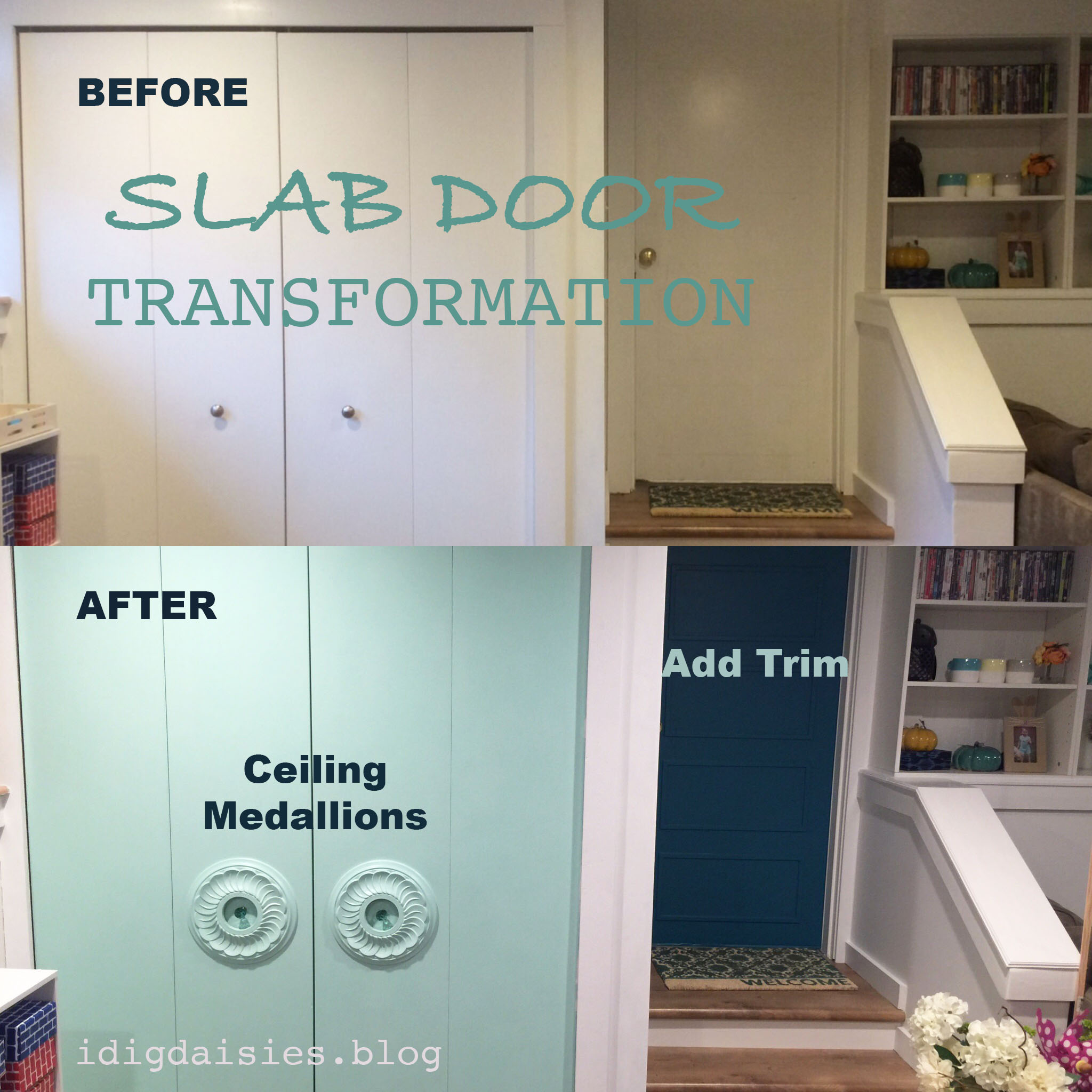 & $30 Bi-Fold Door Transformation   i dig daisies