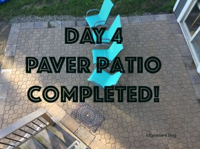 Outdoor Challenge Part 2: Brick Paver Patio